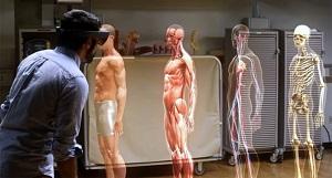 Холографско изображение на човешко тяло